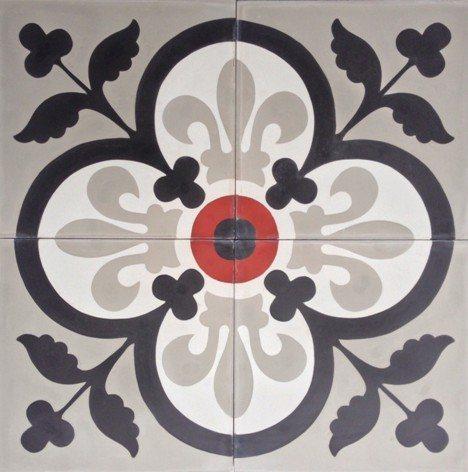 carreaux de ciment charme parquet modele ch 23. Black Bedroom Furniture Sets. Home Design Ideas