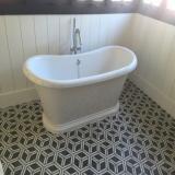 Carreaux ciment HCH-21 realisation salle de bain