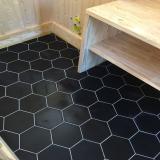 HQU 01 en 15x18 hexagonal - uni noir