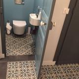 Carreaux de ciment CH-03 realisation toilette