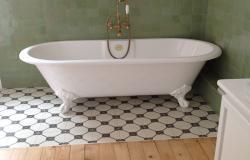 Carreaux ciment CH 03 et zellige dans une salle de bain