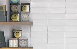Carrelage Mayolica blanc 15x7,5cm
