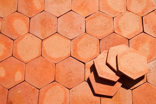 Tomettes hexagonales 15 x 17
