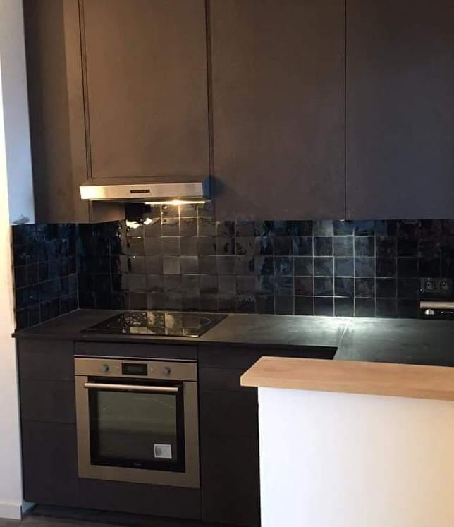 zellige cuisine salle de bain zellige noir avec applique salle de bain avec et cuisine ouverte. Black Bedroom Furniture Sets. Home Design Ideas